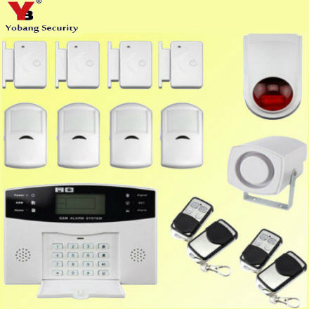 YobangSecurity Wireless Wire GSM Home Security Burglar Alarm System Russian French Spanish Italian Voice Smoke Fire Alarm Sensor