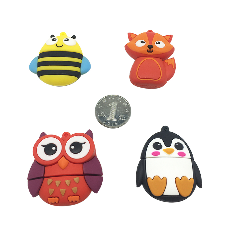 Hot usb flash drive 2.0 pen drive 32GB pendrive 4GB 8GB 16GB 64GB 128GB flash memory Fox Bee Owl Penguin Cute gift free shipping (4)