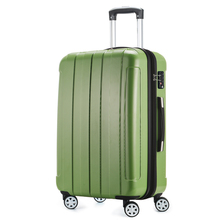 1 Piece 20 24 28 Universal 4 Wheels ABS PC Travel Rolling Luggage Suitcase Green Color Lightweight Wear-resistant Fochier XQ018