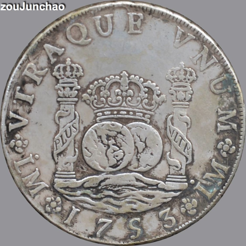 Peru Coins Plating Silver Coin 1753 LM J 8 REALES Copy In Non Currency From Home Garden On Aliexpress