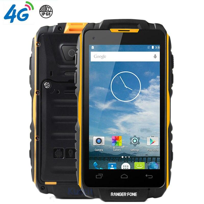 D'origine Ranger fone S18 Étanche Antichoc Téléphone Robuste Android Smartphone MTK6735 Quad Core 4.5 2 GB RAM min 4G LTE GPS
