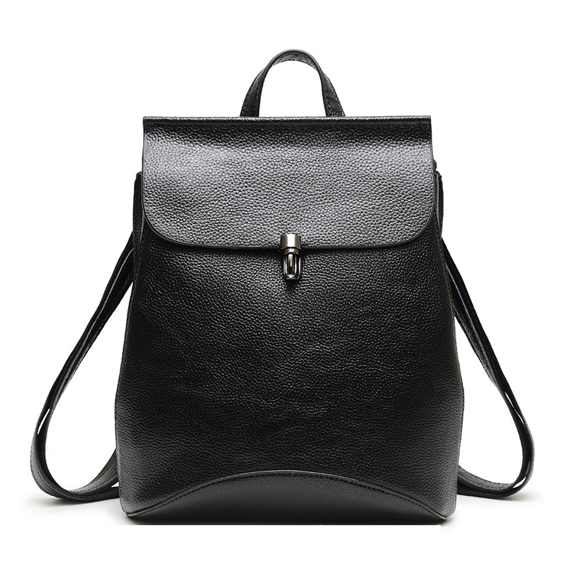 New Fashion Split Leather Women Backpack High Quality Female Ladies Student Bag Girl Famous Brand Casual School Computer Package