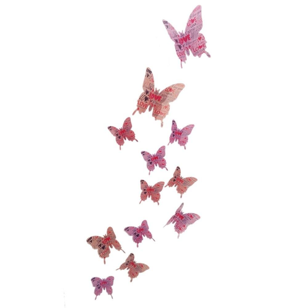 3d Butterfly Wall Decor Aliexpresscom Buy 12pcs 3d Butterflies Wall Sticker Kids Room