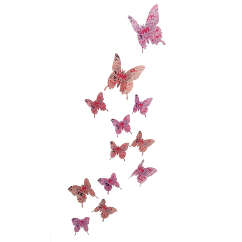 3d wall stickers butterfly buy 3d wall stickers butterfly wall 12pcs 3d butterflies wall sticker kidsu0027 room baby children colorful butterfly removable 3d wall stickers