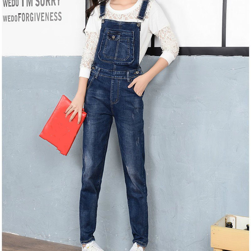 2019 New Spring Autumn Women Overalls Casual Denim Jumpsuit Fashion Sleeveless Jeans Jumpsuits Cowboy Rompers Plus