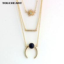 Toucheart Бохо цветочные ожерелья и подвески многослойное ожерелье