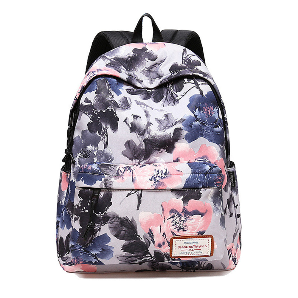 Women Daily Backpack For School Teenager Girls Flowers Printing Travel Backpacks Casual Floral Backpack School Bag mochilas forudesigns 3d printing backpacks for teenager boys girls anime pokemon naruto men felt backpack casual school bagpack mochilas