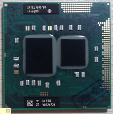 Laptop Cpu Intel PGA 988 Pin Socket G1, I7 620M 2.66-3.33G Dual Core Four Threads  Notebook Processors