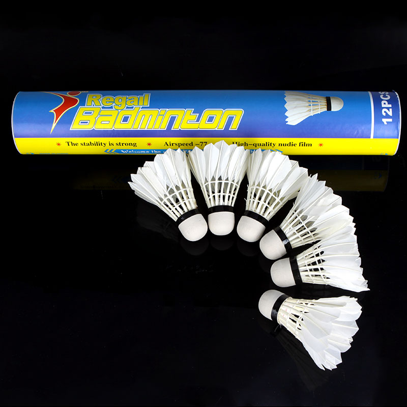 12pcs White Feather Badminton Ball Shuttlecocks Sport Training Game Casual Play