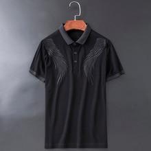 Высокая Новинка высокое телефонный чехол с выгравированным пером Господа поло рубашки для мальчиков рубашка в стиле «хип-хоп» скейтборд хлопковые рубашки-поло футболка# L72