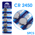 Free shipping 5PCS for CR2450 button batteries For Volvo For BMW remote control battery 2450 3V battery