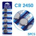 Frete grátis 5 PCS para CR2450 baterias botão Para Volvo Para BMW controle remoto da bateria 2450 3 V bateria