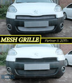 Mesh grille case for Peugeot Partner II 2011- car styling molding decoration protection chrome pad cover stainless
