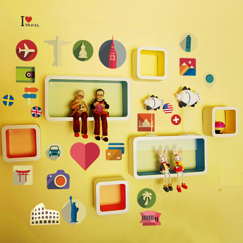 Compare Prices on Shapes Wall Sticker for Kids- Online Shopping/Buy ...