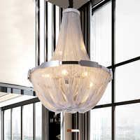 Nordic aluminium kette anhänger licht romantische atmosphäre schlafzimmer restaurant küche hängen licht