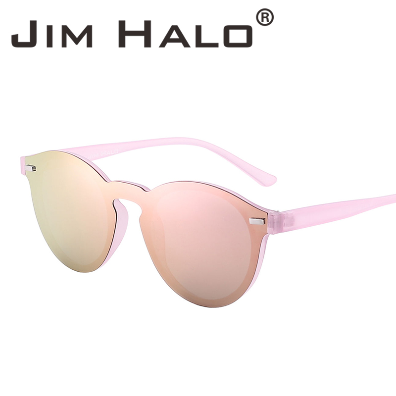 Jim Halo One Piece Polarized Rimless Mirror Reflective Circle Lens - Aksesori pakaian - Foto 1