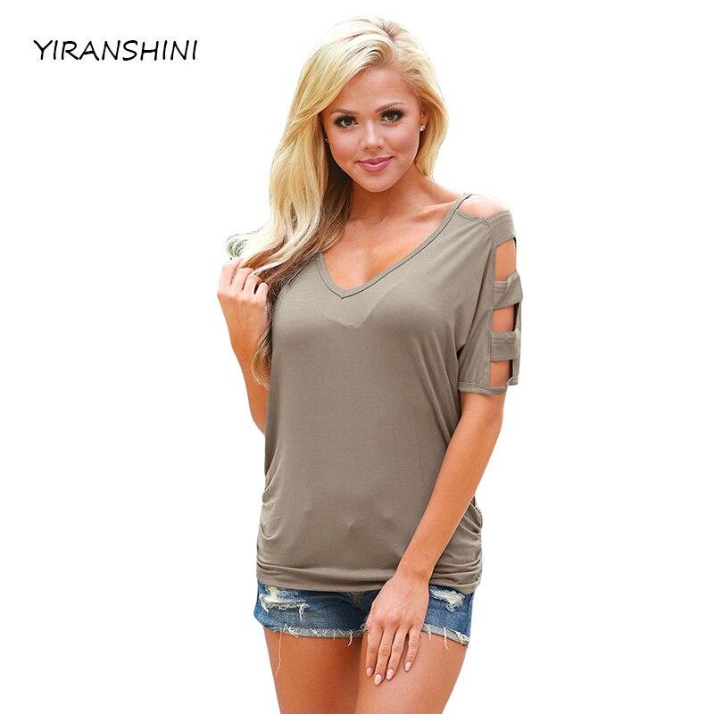 YIRANSHINI 2018 Neue Kaffee Farbe Sommer Mode Kurzarm O-Rundhals Floral Bedruckte T-shirt LC250067-1