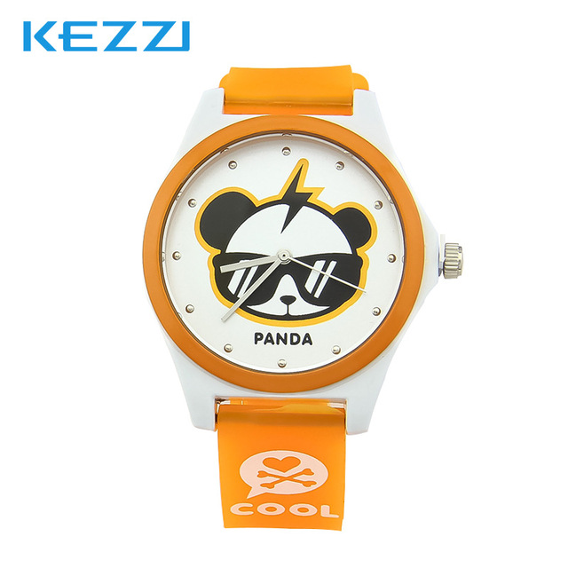Lovely Watch Christmas Gifts for Children's Wrist Watch Analog Quartz Watches Kids Watches Cartoon Cute Panda Colorful Leather