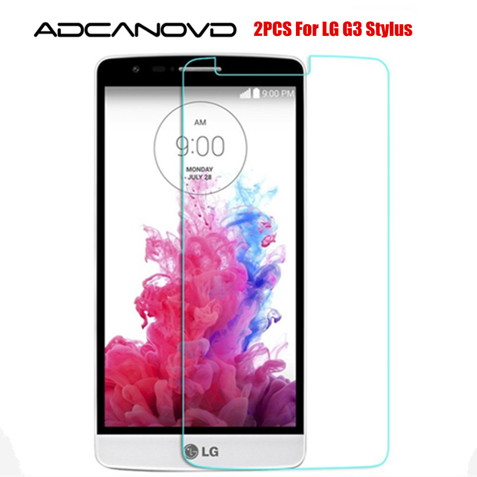 2PCS Tempered Glass for <font><b>LG</b></font> G3 Stylus D690 D690N <font><b>Case</b></font> Screen Protector on <font><b>G</b></font> 3 <font><b>Stylos</b></font> g3stylus Cover Film Funda 2.5D 9H image