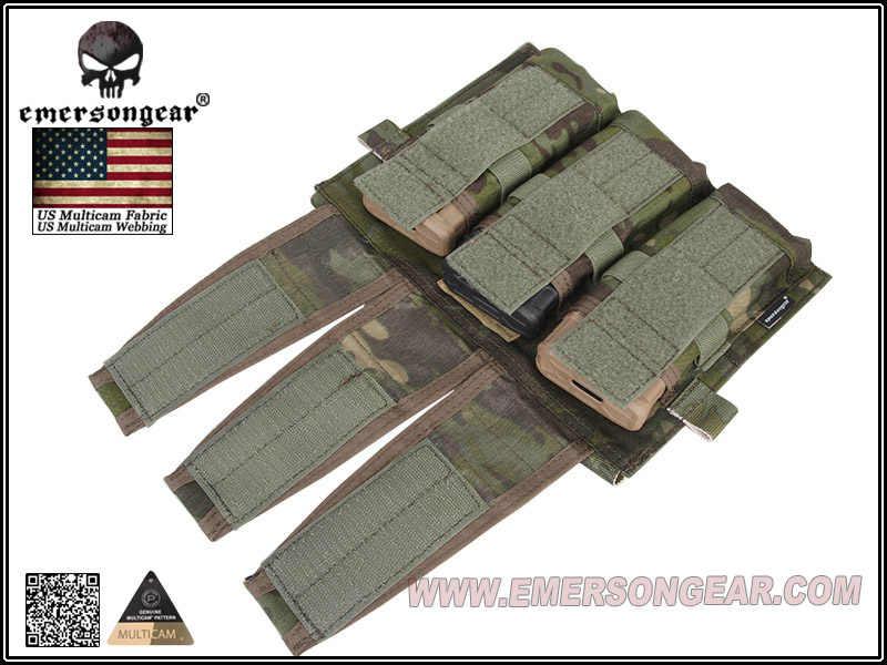 Emerson Triple etui na magazynek tylko do kamizelki AVS Combat Molle etui na magazynek Multicam Tropic EM9030