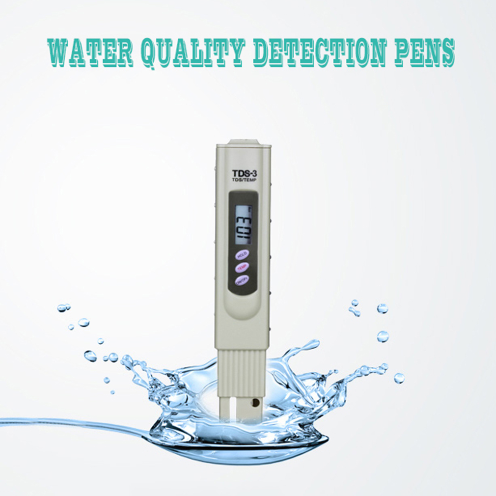 1pc Lcd Digital Tds 3 Meter Filter Pen Temp Ppm Tester Stick Water Purity 0 9990 Temperature No Backlight