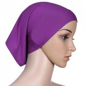 Image 3 - Muslim Women Cotton Soft Under Scarf Inner Cap Bone Bonnet Neck Cover Caps Wrap Headwear Islamic Arab Middle East Fashion