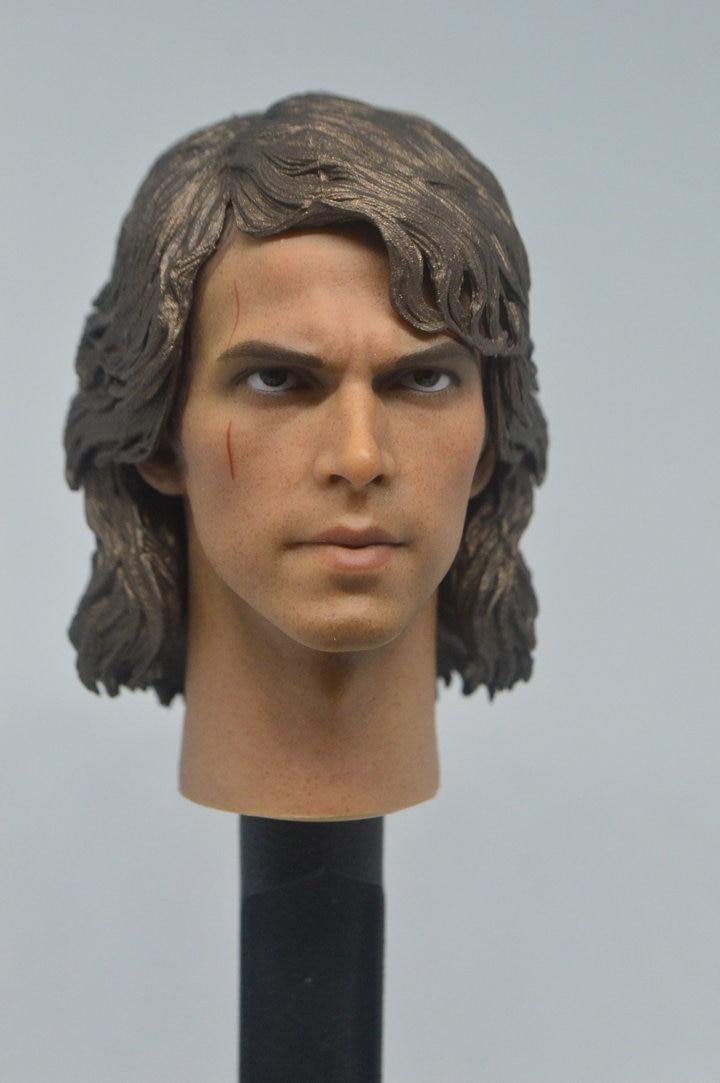 1//6 Star Wars Anakin Skywalker Head Sculpt for 12/'/' Male Action Figure