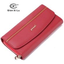 GIFT BOX Packing Genuine Leather Women's Purses Organizer Wallet Female Phone Wallets Card holder carteira feminina