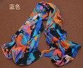 2014 comercio al por mayor de moda mujer bufandas chales Para las mujeres coche de caballos de impresión bufanda de seda femenina azul verde naranja capes pashmina tippet