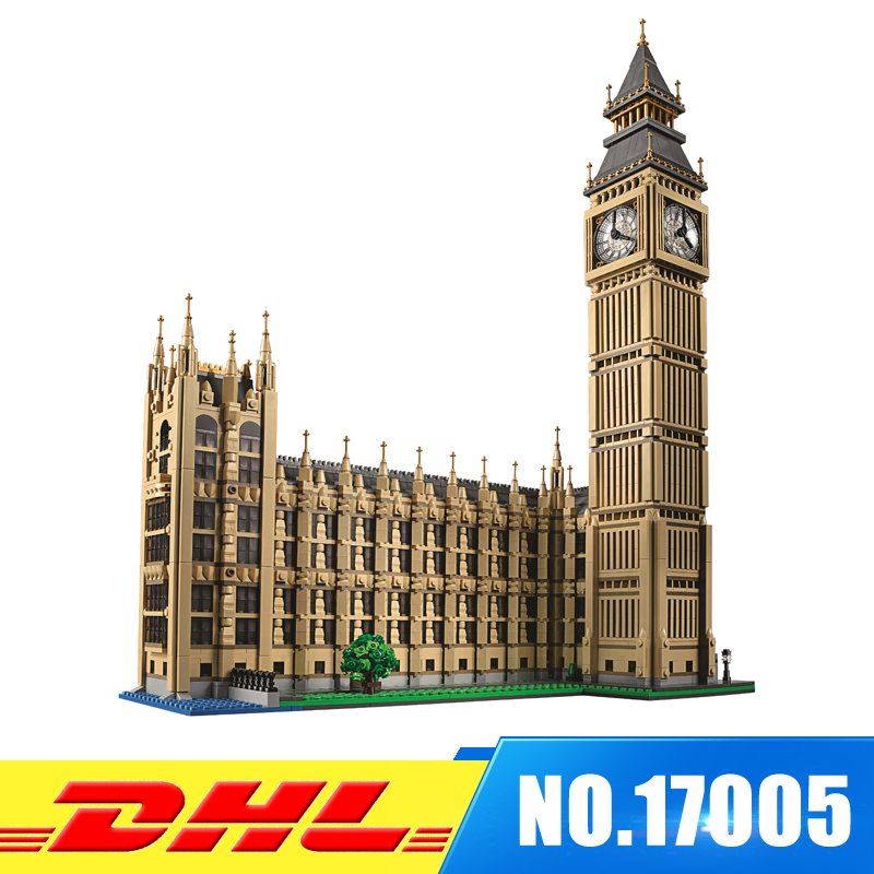 Fit For 10253 IN STOCK LEPIN 17005 Big Ben Elizabeth Tower  Model Set Building Kits Blocks Bricks Christmas Gift Toy lepin 17005 4212pcs street view series london big ben model building blocks set bricks toys for children gift 10253