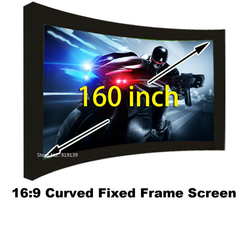 Huge Cinema HD Screen 160 Inch Flat Fixed Frame DIY Projection Screens 3D Projector Screen Fabric 16:9 Perfect Ratio hd projector projection screen 300inch 16 9 format outdoor fast folding frame screens for camping music party