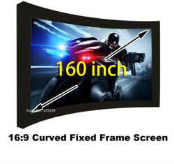 Ogromne kina ekran HD 160 Cal płaski stały ramki DIY ekrany projekcyjne 3D ekran projekcyjny tkaniny 16:9 idealny stosunek