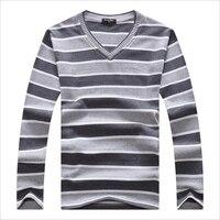 Cheap Sweater Men 2016 Fashion Brand Autumn Winter Kintwear Stripes Pullover V Neck Male Basic Shirt