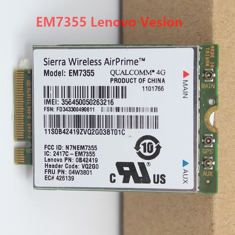 JINYUSHI Stock T440p Thinkpad L540 EM7355 For L440/L540/T431s/.. EVDO/HSPA NGFF NGFF