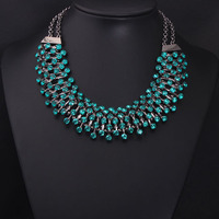 New Arrival Luxury Green Z Stone Clain Women Statement Gem Crystal Good Quality Collar Choker
