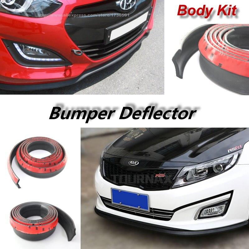 Car Bumper Lips For KIA Cadenza K7 K2 Rio Pride Xcite Cinco RX-V Stylus Forte K3 Cerato Shuma Koup Body Kit Strip Front Tapes коврик для приборной панели авто 11 kia forte cerato k3 bngy 12