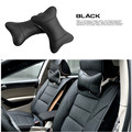 New 4 Colors Leather Hole-digging Headrest Pillow Car Headrest Supplies Neck Auto Safety Pillow Car Seat Covers Pillow Headrest