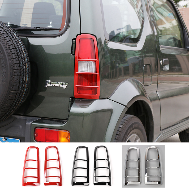 SHINEKA voiture style feu arrière hottes décoration couverture garniture feux arrière gardes autocollant Fit ABS pour Suzuki Jimny 2007 +