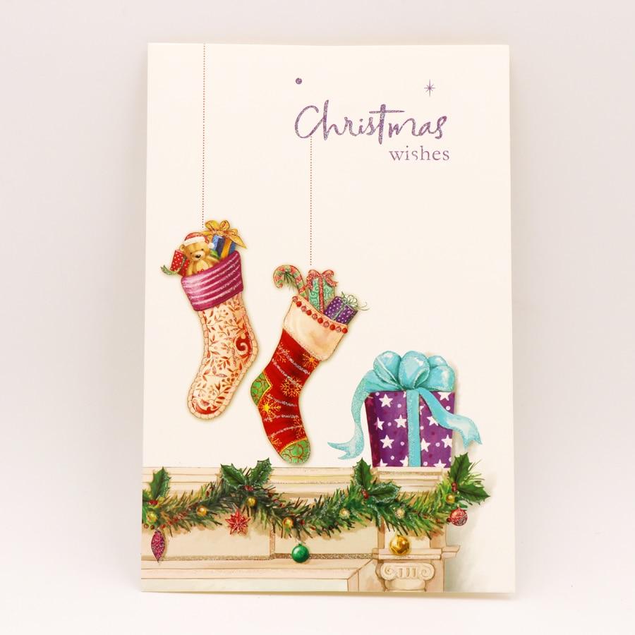 Aliexpress.com : Buy 8PCS/Set Cartoon Deer Christmas Greeting Card ...