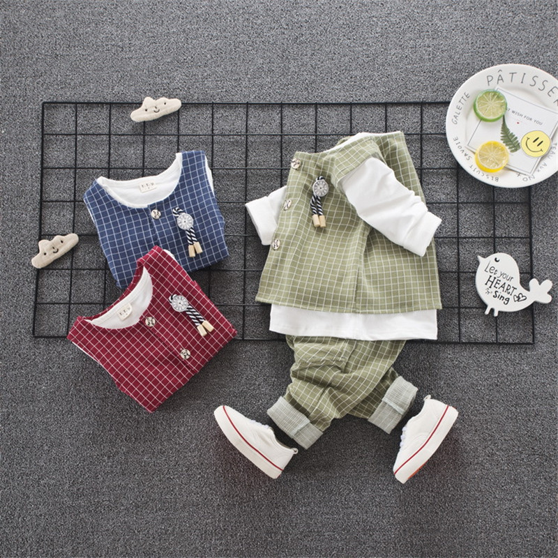 2019 New Children's Clothing Suit Cotton Products For Boys & girls Three-piece set Spring & autumn Kids sets baby clothes outfit