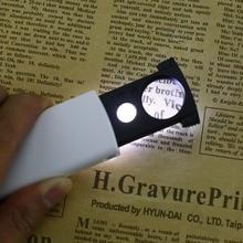 цена на 20x 45x Dual Lens Portable handheld Mini LED Magnifier Glass Lens Pocket Microscope Reading Jewelry Loupe Magnifier