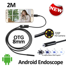 2MP HD720P Android USB Endoscope Camera Flexible Snake USB Inspection Waterproof Andorid OTG USB Borescope Camera 6LED