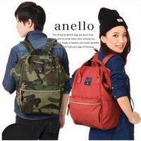 Original anello School Backpacks Canvas Waterproof Laptop Backpack College Bag For Women Lightweight Ring Backpack