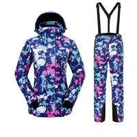Для женщин лыжный костюм Спорт на открытом воздухе теплый ветрозащитный Водонепроницаемый быстрое высыхание дышащий лыжная куртка брюки н
