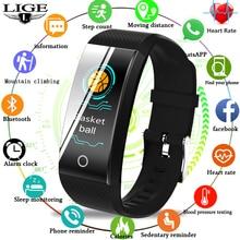LIGE Smart Bracelet IP68 Waterproof sport Watch Heart Rate B