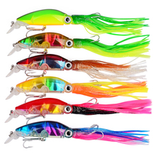 6pcs 109g/bag 10cm Octopus Hard Lure Lifelike Plastic Fishing with Beard Artificial High Quility Accessories For Lake