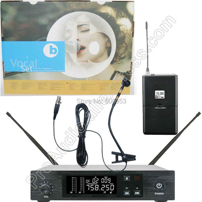 Micwl UHF Qlx Nirkabel Instrumen Mikrofon Klip MIC Sistem untuk Beta98 Alat Musik Gitar Saxophone Tahap Kinerja