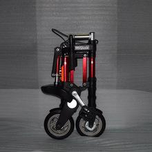 Fabryka sprzedaż bezpośrednia 8-cal najnowsze uaktualnienie mini ultra lekki składany rower aluminium przenośny rower górski tanie tanio Ze stopu aluminium ze stopu aluminium Unisex 6 5 kg 160-185 cm Tylny hamulec bębnowy Rama twardego (nie tylny amortyzator)