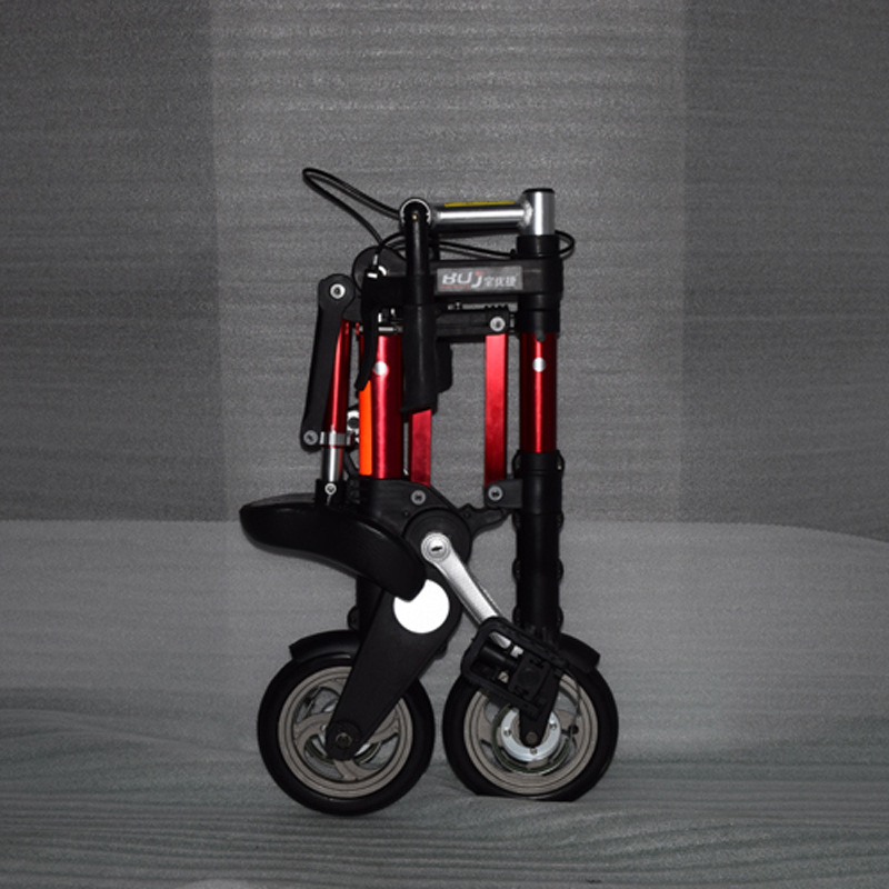 Factory direct sale 8-inch latest upgrade mini ultra light folding bicycle aluminum portable mountain <font><b>bike</b></font> image
