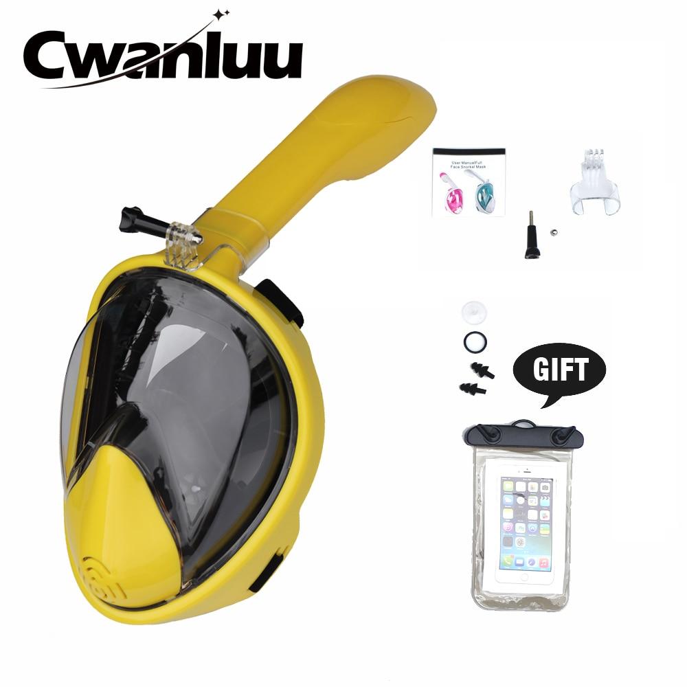 2019 New Underwater Anti-Fog Full Face Scuba Diving Mask Snorkeling Set Respiratory masks Safe Swimming Mask for Kids Adult
